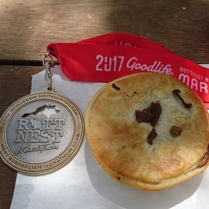 Rottnest medal and pie.
